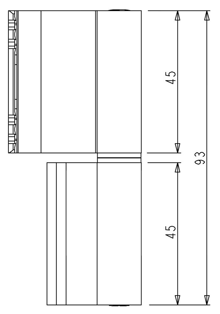 Cerniera finestra alluminio